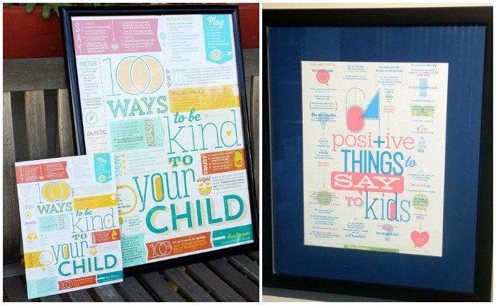 Gorgeous positive parenting prints from Creative With Kids available in two sizes