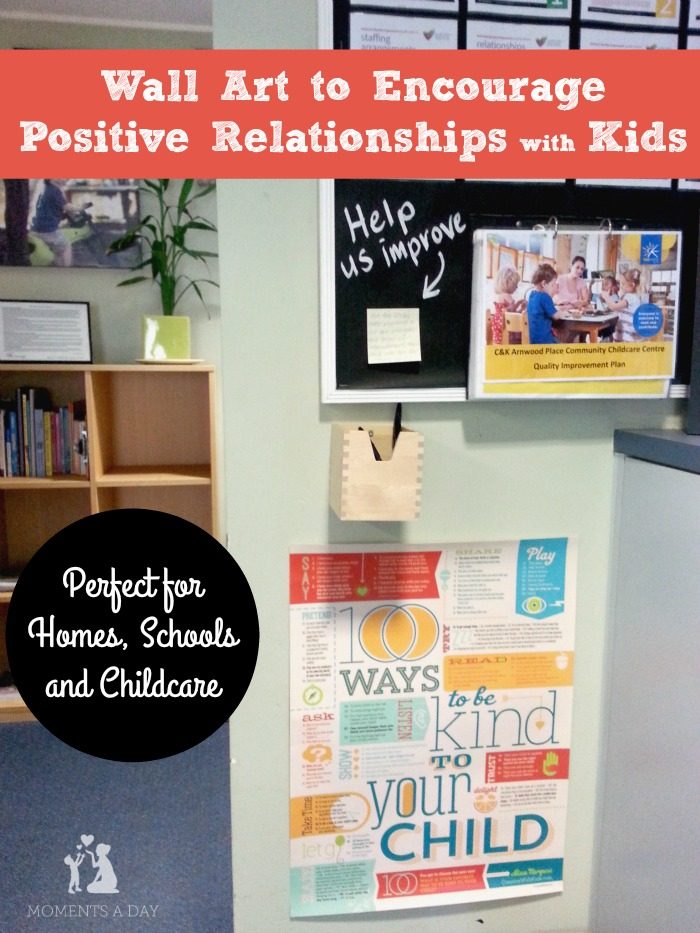 Gorgeous prints that inspire positive relationships with kids great for the home or classroom
