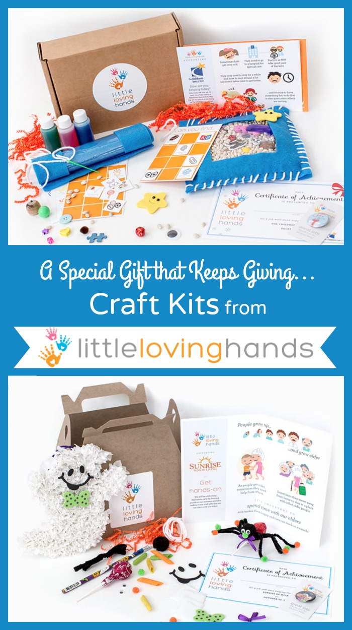 Little Loving Hands craft kits let kids get creative then give back to organisations in need