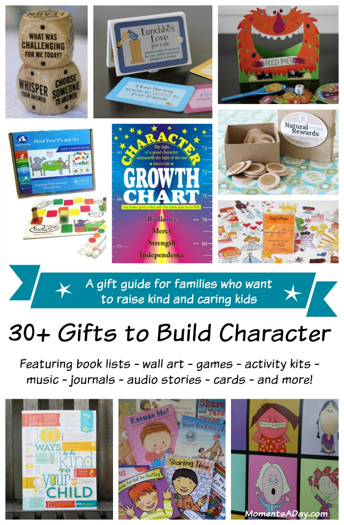 The ultimate gift guide of character building resources for parents who want to give gifts that will help their kids grow.