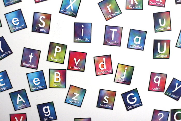 Virtue ABC magnets a fun gift