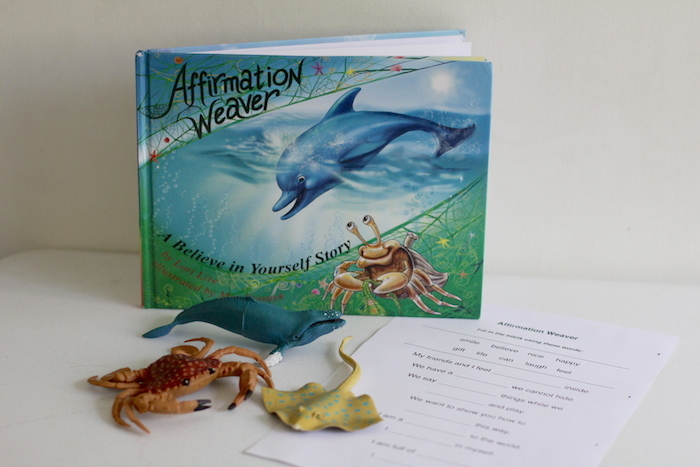 A beautiful story that helps kids learn positive affirmations plus two activities to take the discussion further
