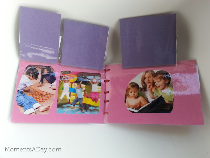 Easy DIY lift the flap manners book