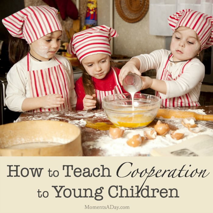 Activities and advice from real parents about how to teach cooperation to kids