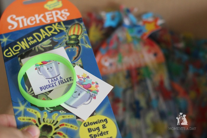 Bucket Filler incentives are a great goodie bag filler