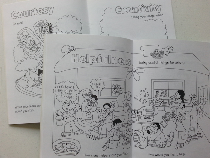 Colouring book recommendations for families who want to help kids build character