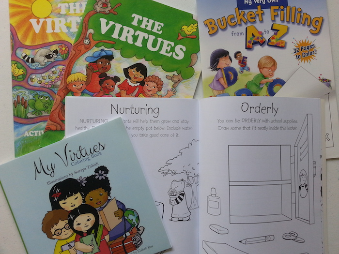 Colouring books that have positive messages for kids