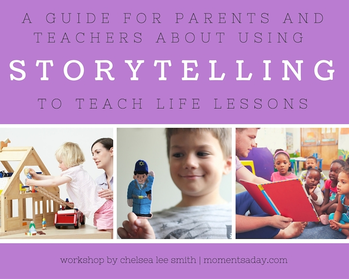A guide for parents and teachers to use storytelling to teach life lessons to young children