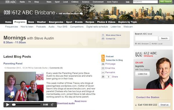ABC radio appearances