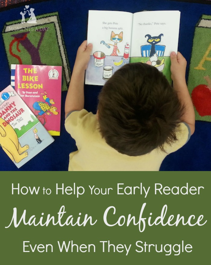 Tips to help early readers maintain confidence and develop a love for reading