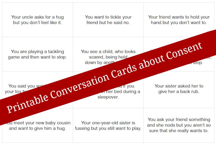 Free Printable Conversation Cards to Teach Consent