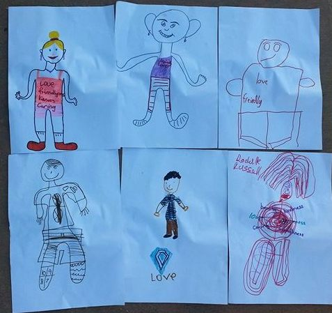 Kids drawings of the gems within