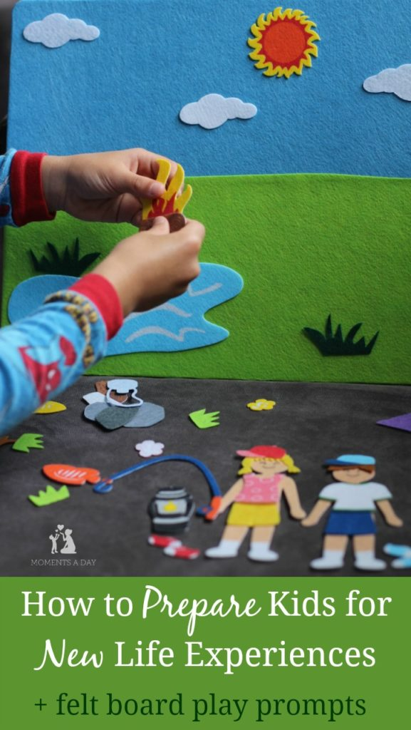 Prepare kids for new life experiences with these felt board play prompts