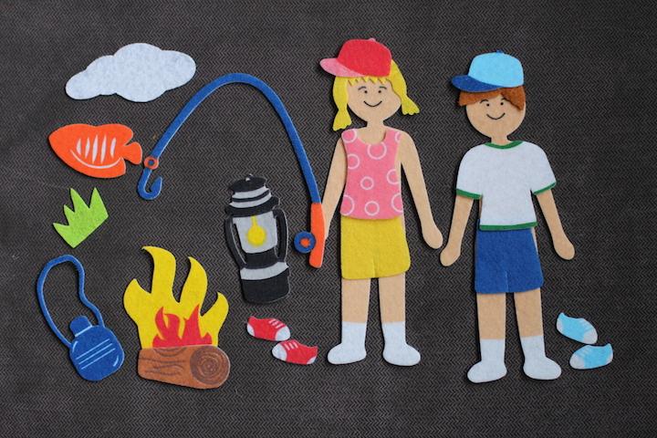Preparing kids to go camping