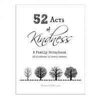 52 Acts of Kindness printable scrapbook