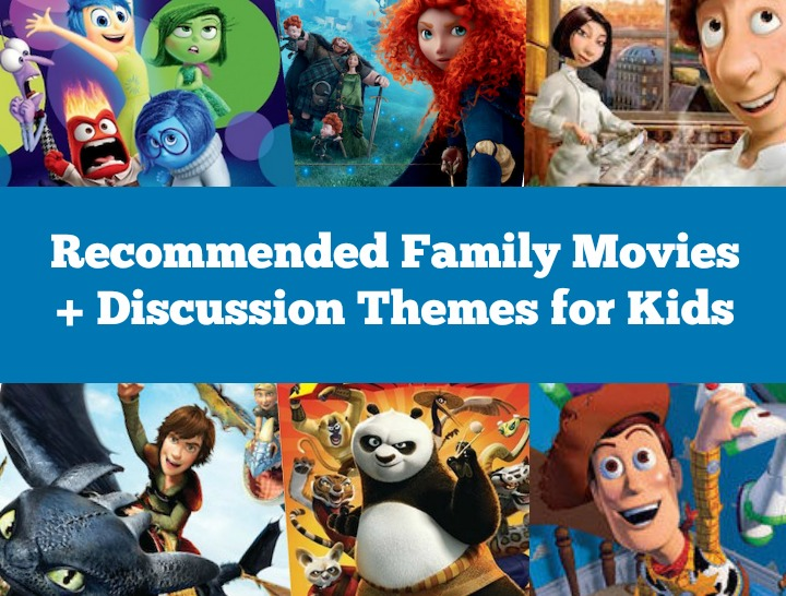 A List of Family Movies with Discussion Themes for Kids for Help Them Grow