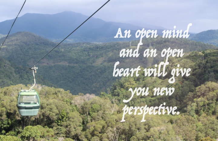 Opening ourselves up can give us perspective
