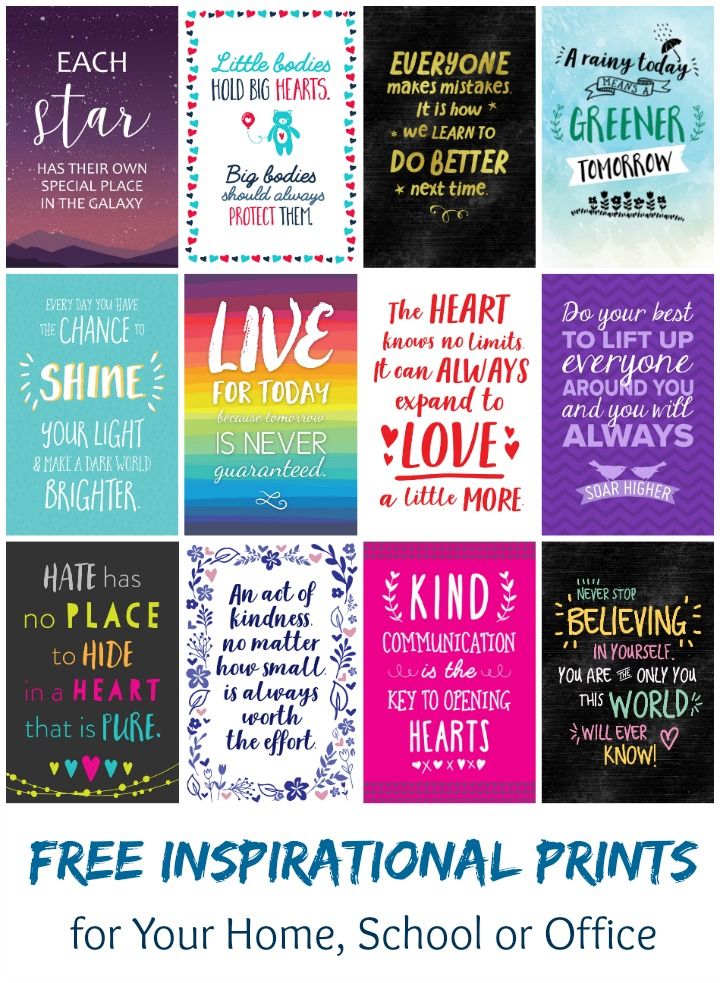Free Inspirational 6x4 Prints for Your Home, School or Office