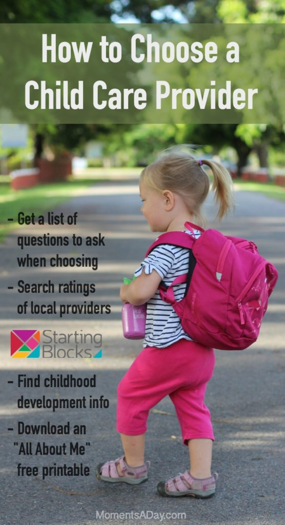 If you are wondering how to choose a child care provider check out this handy resource and download the free printable to help your child adjust