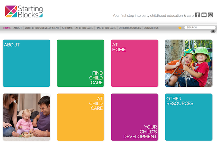 Starting Blocks is a free government website that rates and assesses child care providers around Australia to equip parents with valuable information on choosing a provider for their child
