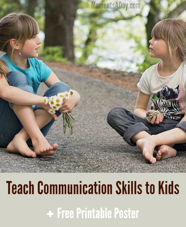 Teach these six communication skills for kids with the free printable