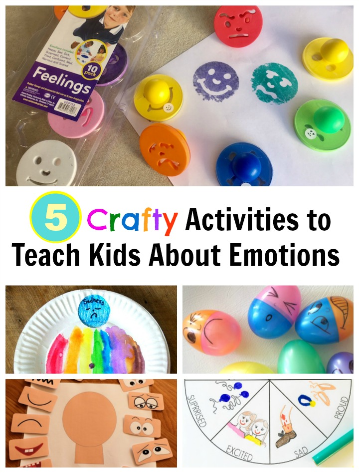 5 Crafty Activities to Teach Kids About Emotions that are Easy to use at Home or in the Classroom