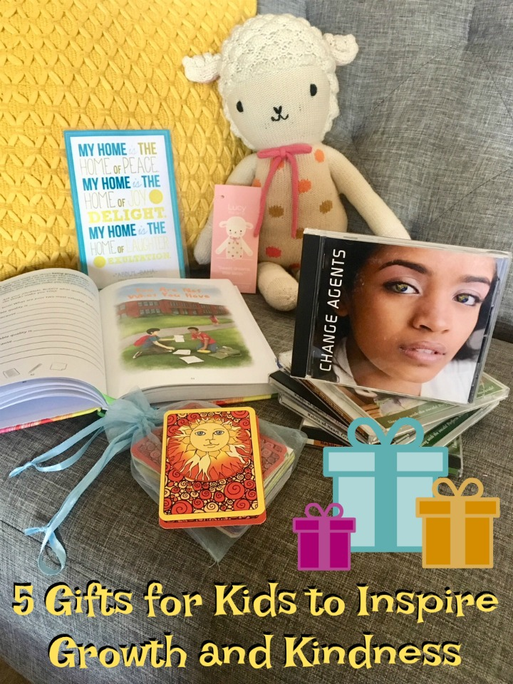A collection of gifts for kids to inspire kindness and personal growth