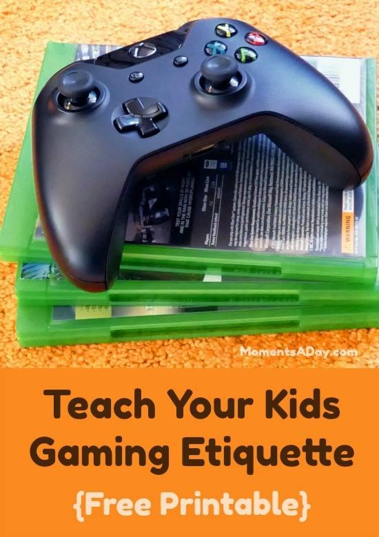 Free Printable to Teach Kids Gaming Etiquette