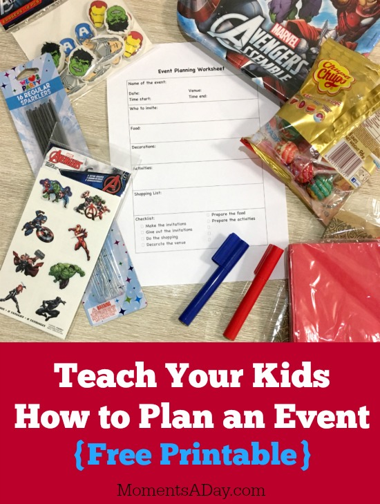 Teach Kids Event Planning Skills with this Free Printable