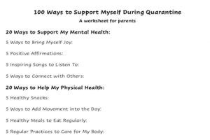 100 Ways to Support Myself During Quarantine {Free Printable}