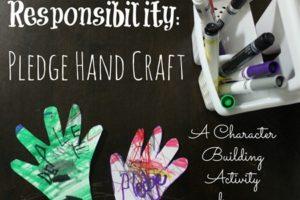 Teach Children Responsibility: Pledge Hand Craft