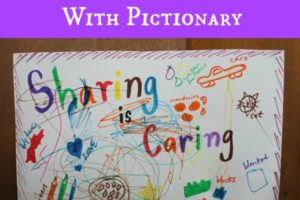 """Keeping """"Sharing"""" Positive With Pictionary"""