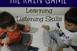 The Rain Game: Teaching Children Listening Skills