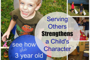 How Serving Others Strengthens a Child's Character