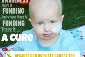 Raising awareness about childhood cancer