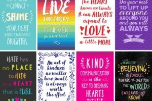 Free Inspirational 6×4 Prints for Your Home, School or Office