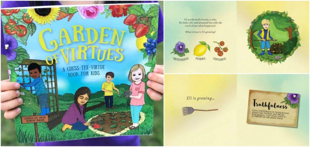 Garden of Virtues is a fun book for kids to learn about ten different virtues and what they look like in everyday life