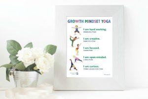 Growth Mindset Yoga Free Printable