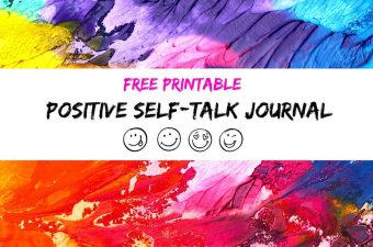 Free printable positive self talk journal for kids at home or school